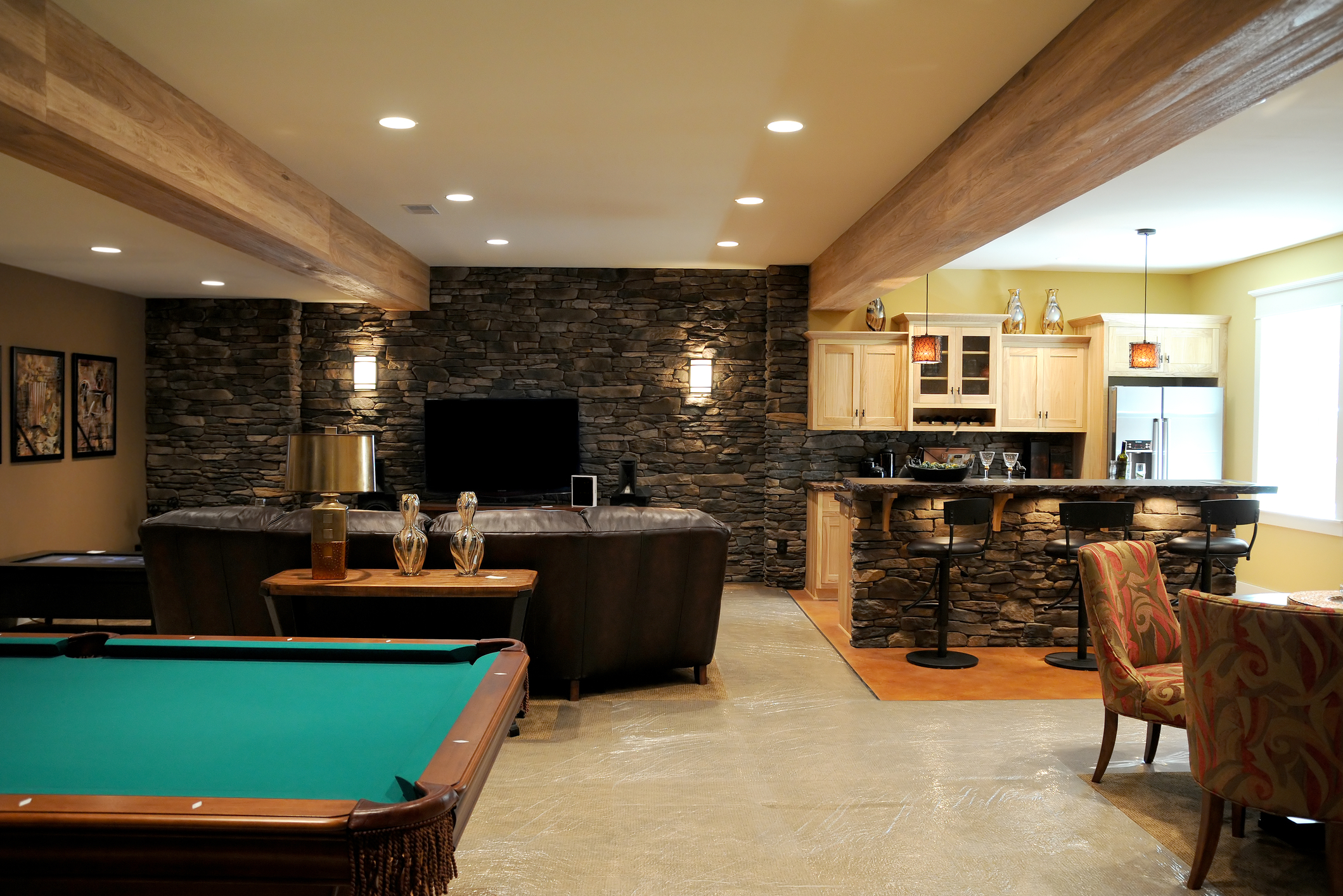 Home Basement Designs Decor Entrancing Basement Remodeling  Basement Finish Pros Design Inspiration